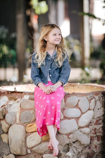 Sarah Williams of Mirror's Edge Photography, a San Luis Obispo County Portrait Photographer, captures Evelyn Hailer's Nine Year old Birthday Portraits at the San Luis Obispo Misson
