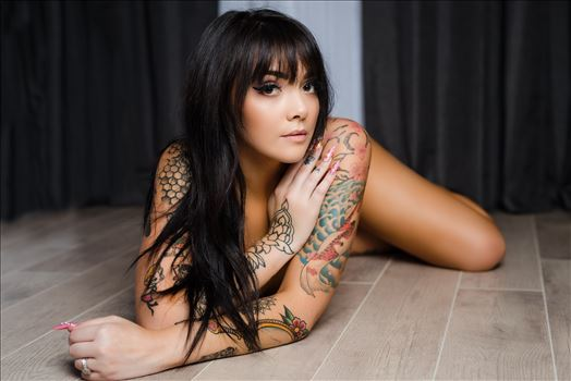 San Luis Obispo County Beachfront Boudoir 18 - Beachfront Boudoir by Mirror\u0027s Edge Photography, San Luis Obispo County\u0027s Number One Luxury Boudoir Photography Experience.  Promoting body positive movement, empowerment, confidence and self love. Tattooed beauty illusion of nude
