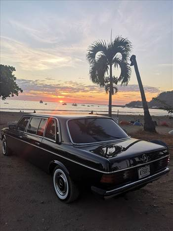 BEACH SUNSET LIMOUSINE COSTA RICA.jpg by richardblank