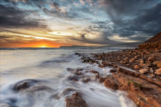 Compton Bay Sunset by Wight Landscapes