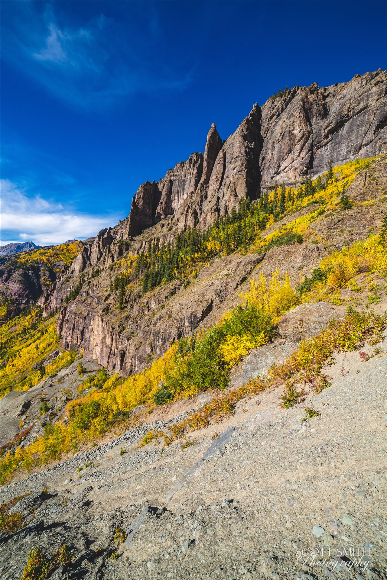 Telluride, Colorado Telluride from Black Bear Pass in October, 2015. by Scott Smith Photos