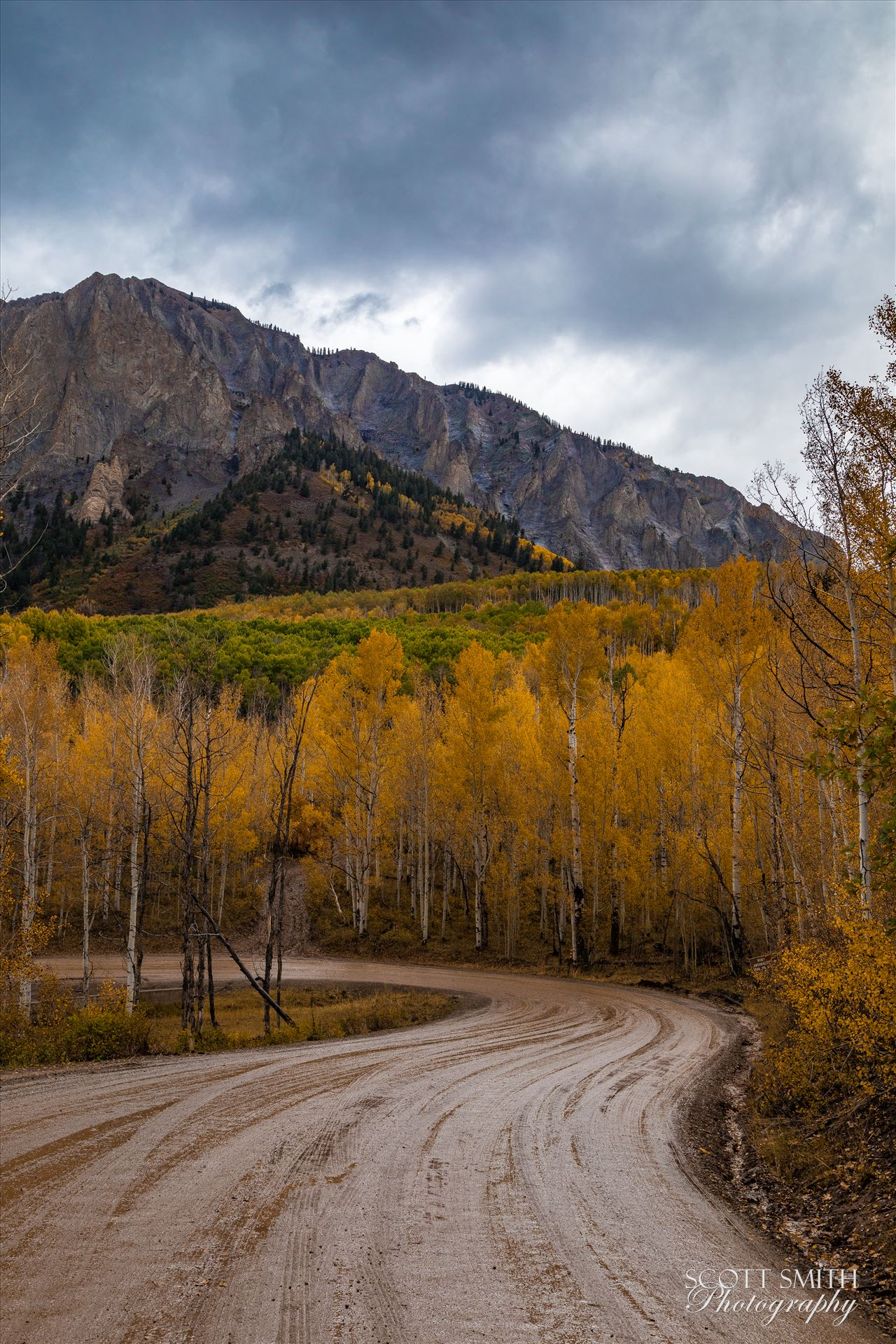 Marcellina Mountain 1 Marcellina Mountain from Kebler Pass, on the way to Creste Butte, Saturday 9/29/17. by Scott Smith Photos