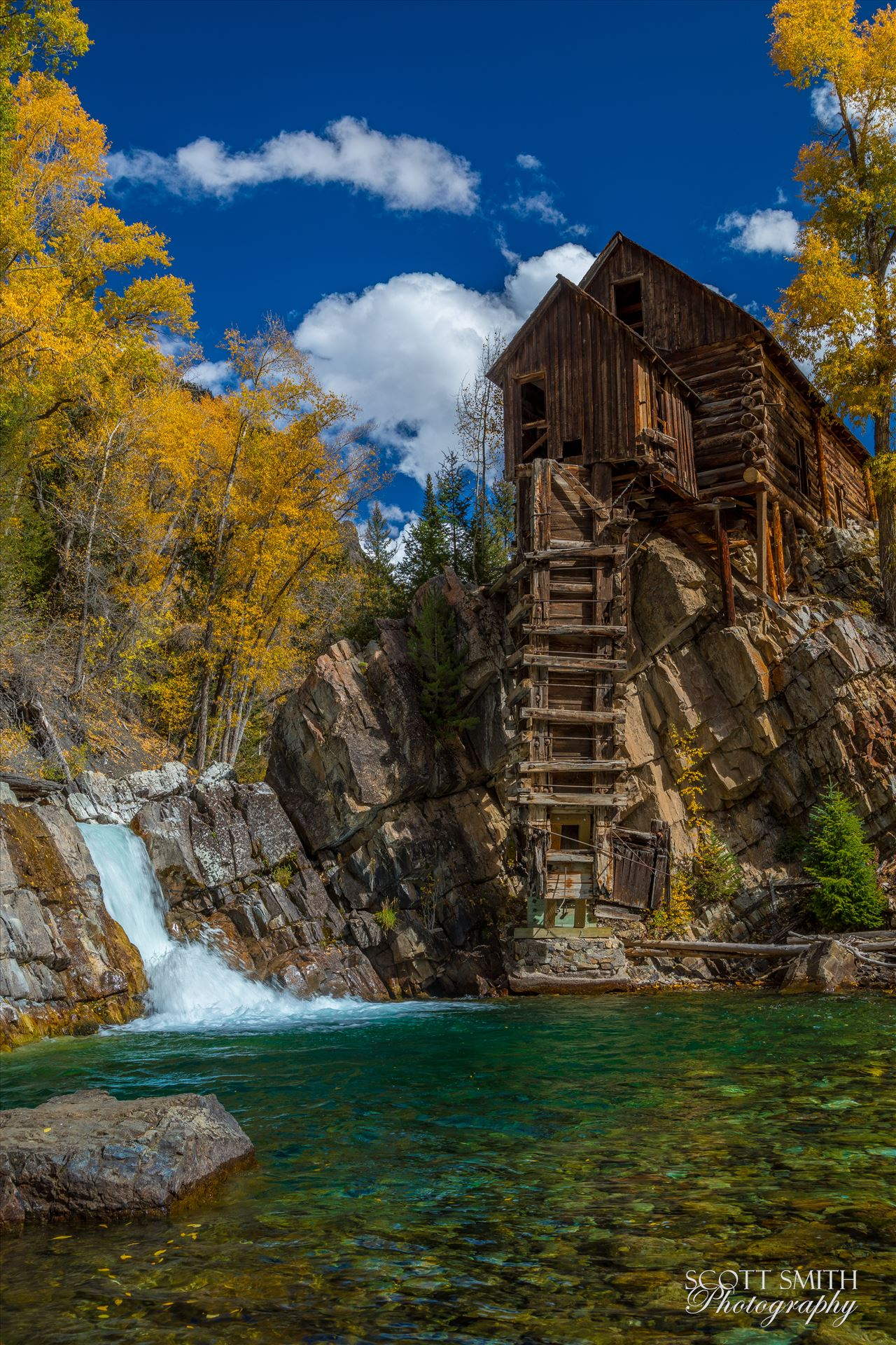 Crystal MIll No 3 The Crystal Mill, or the Old Mill is an 1892 wooden powerhouse located on an outcrop above the Crystal River in Crystal, Colorado by Scott Smith Photos