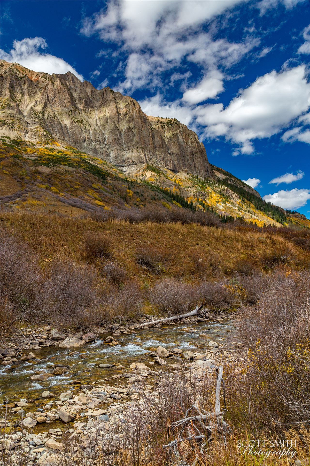 Gothic and East River One of the small East River tributaries trickles past Gothic Mountain near Crested Butte, Colorado. by Scott Smith Photos