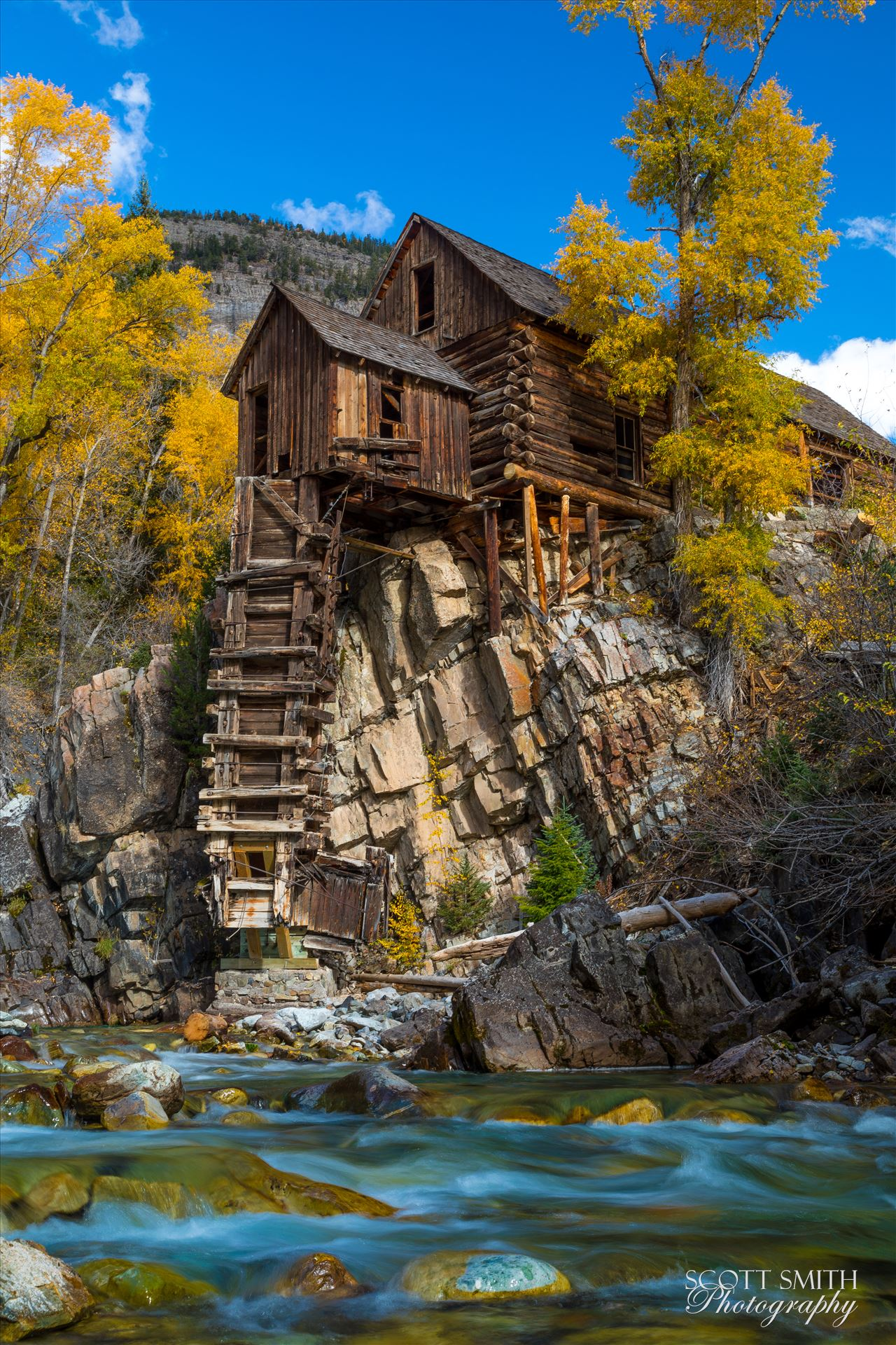 Crystal Mill No 4 The Crystal Mill, or the Old Mill is an 1892 wooden powerhouse located on an outcrop above the Crystal River in Crystal, Colorado by Scott Smith Photos