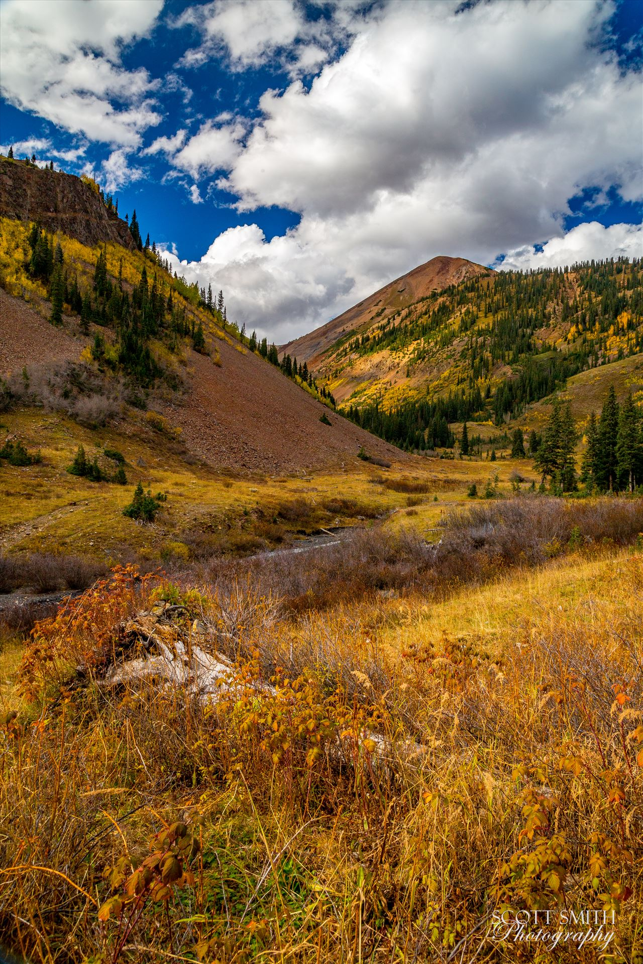 Washington Gulch Nestled in Washington Gulch, a small stream works between the mountains. by Scott Smith Photos