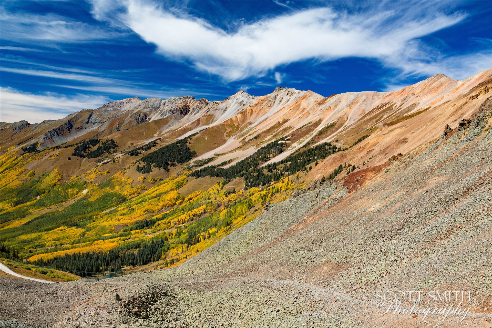 Ophir Pass 1 Just west of the Ophir Pass summit, between Ouray and Silverton Colorado in the fall. by Scott Smith Photos