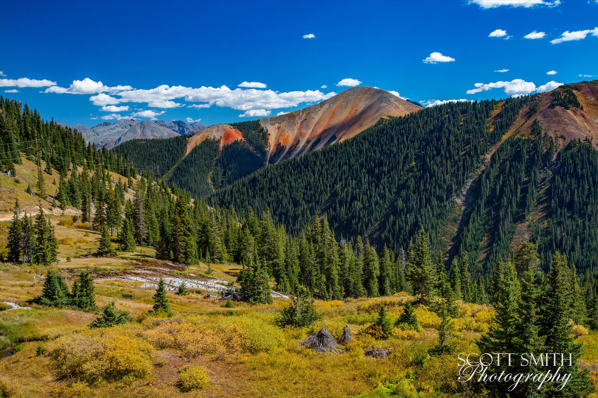 Ophir Pass 5 Ophir Pass, featuring one of the red mountains, between Ouray and Silverton Colorado in the fall. by Scott Smith Photos