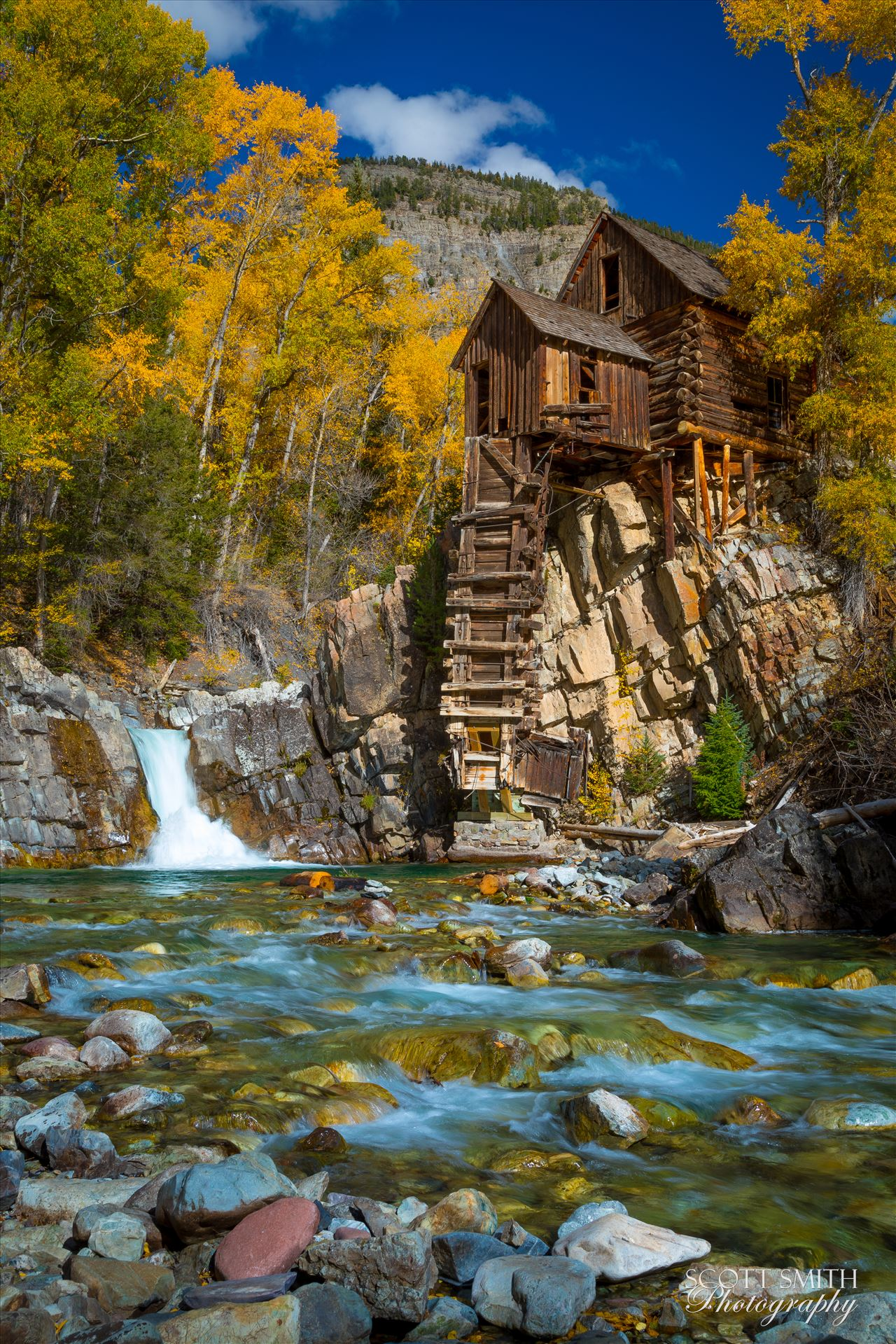 Crystal Mill, Colorado 08 The Crystal Mill, or the Old Mill is an 1892 wooden powerhouse located on an outcrop above the Crystal River in Crystal, Colorado by Scott Smith Photos