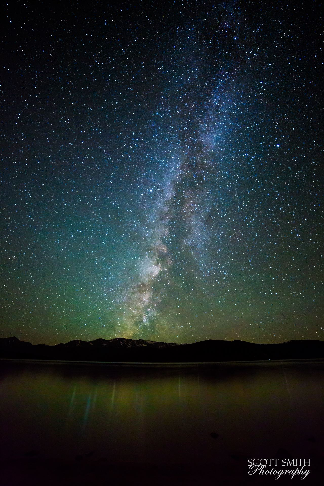 Milky Way over Turquoise Lake by Scott Smith on SnapThe