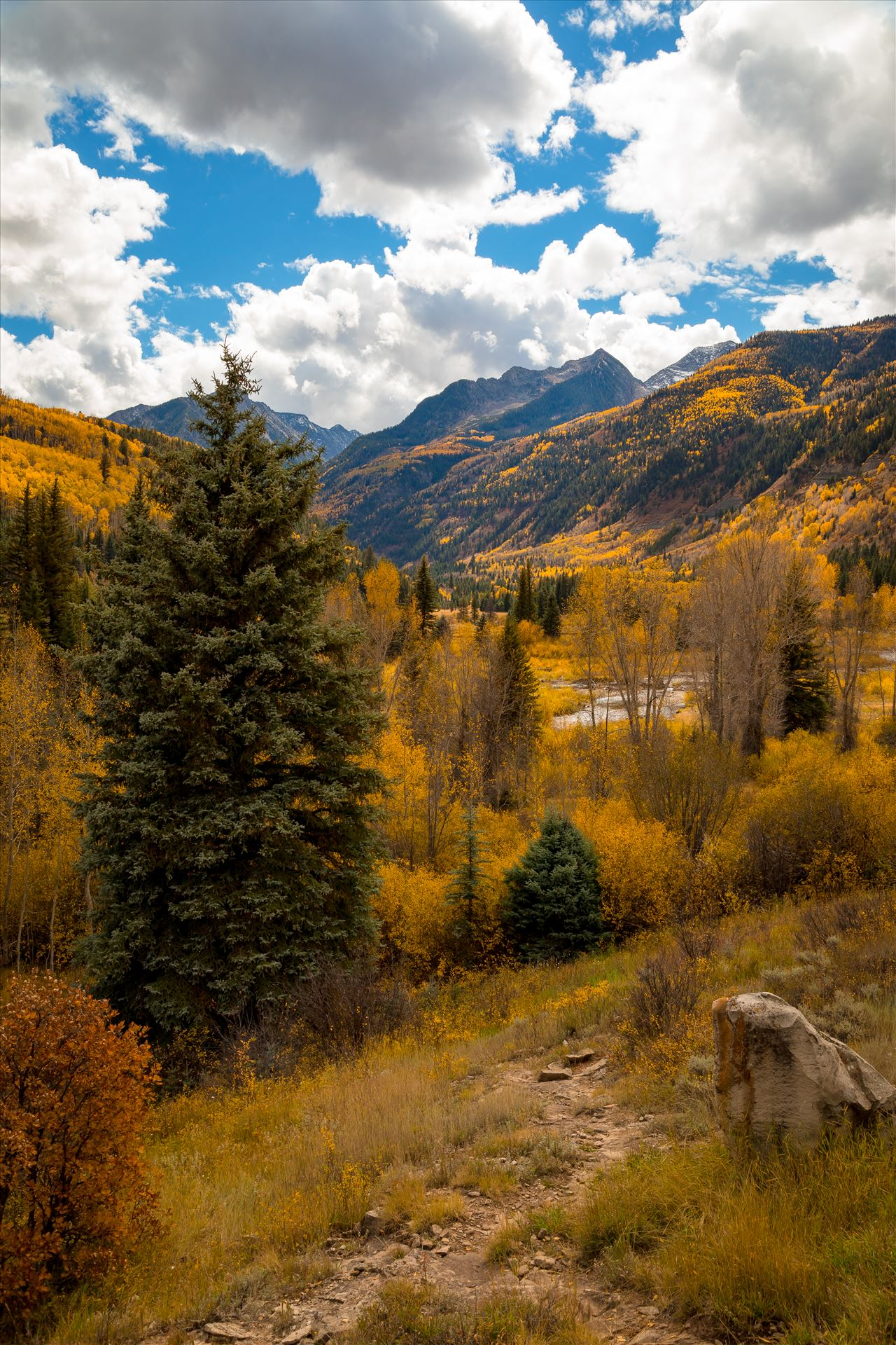 Fall Hiking Near Redstone, Colorado A trailhead between Marble and Redstone, Colorado. by Scott Smith Photos
