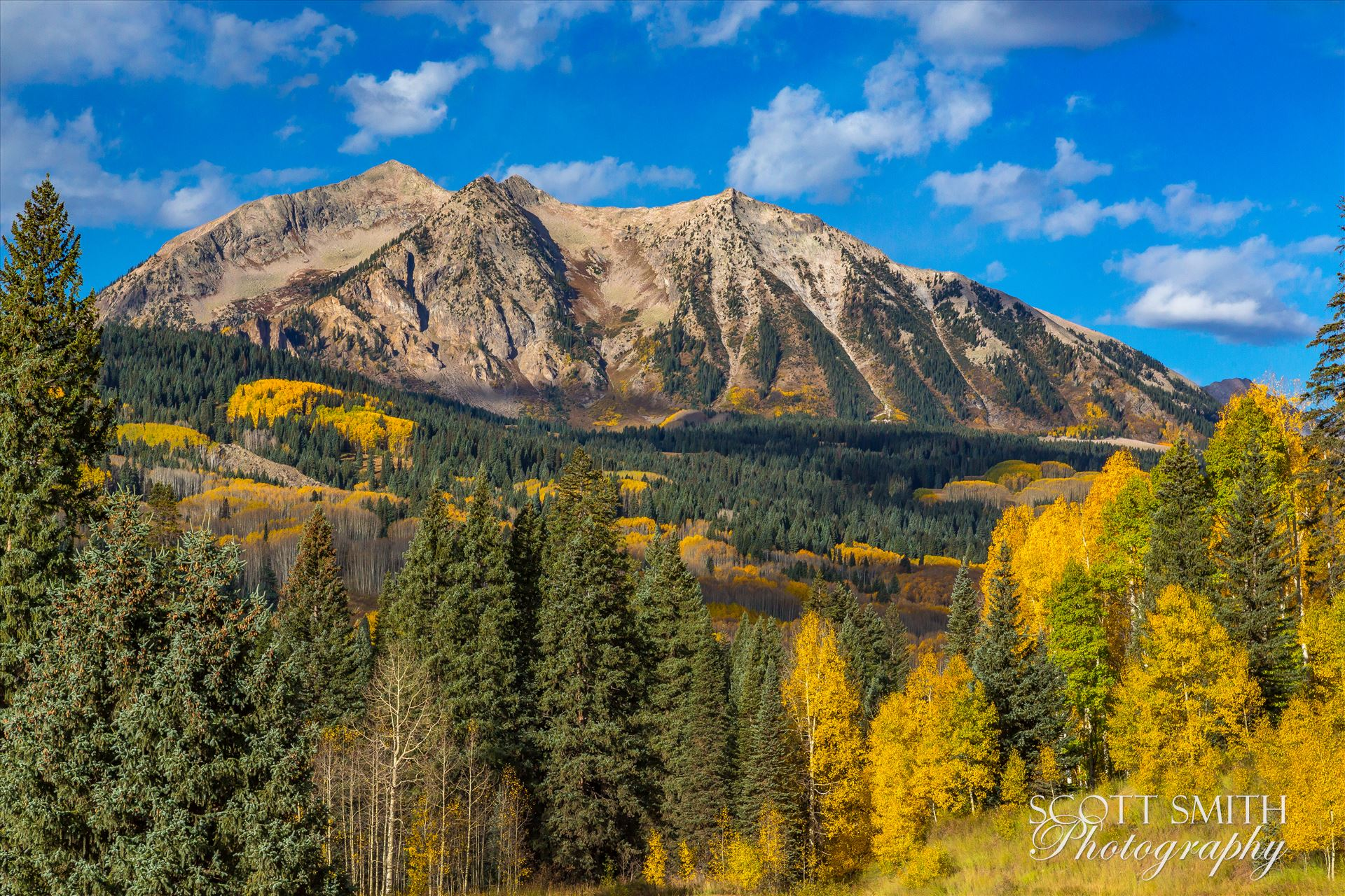 East Beckwith Mountain Detail East Beckwith mountain from Kebler pass near Crested Butte, Colorado. by Scott Smith Photos
