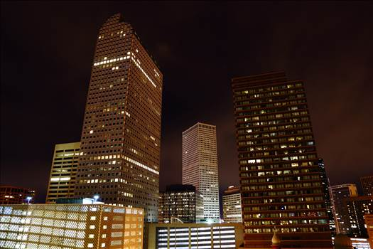 Downtown Denver at Night by Scott Smith Photos