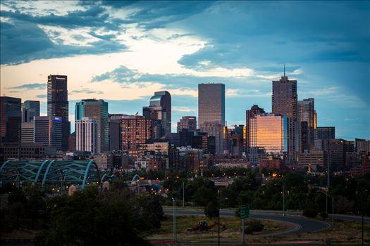 Denver Skyline at Sunset by Scott Smith Photos