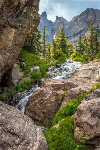 Bear Lake Trail Waterfall by Scott Smith Photos