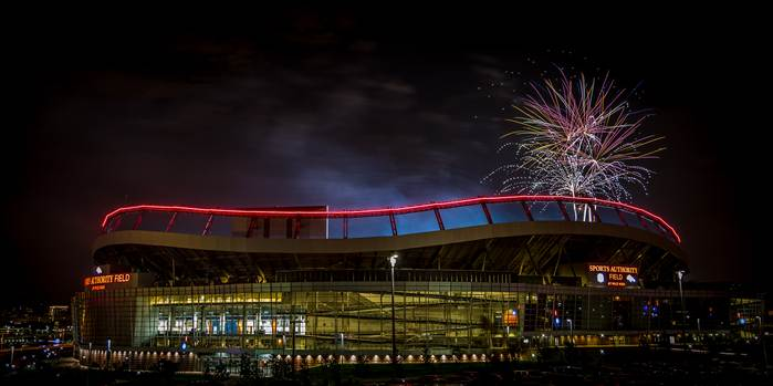 Fireworks at Mile High Stadium by Scott Smith Photos