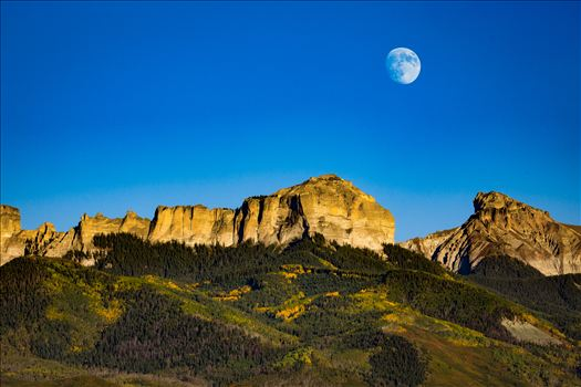 Moonrise over Chimney Peak by Scott Smith Photos