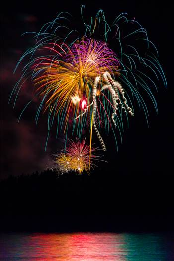 Dillon Reservoir Fireworks 2015 1 by Scott Smith Photos