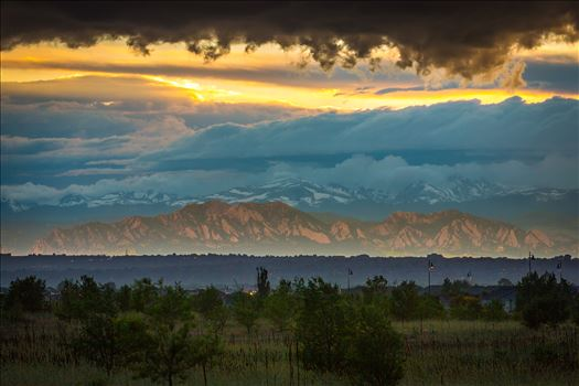 Relected Light on the Flatirons by Scott Smith Photos