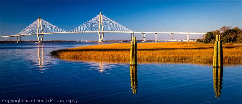 Arthur Ravenel Jr. Bridge and Charleston Bay by Scott Smith Photos