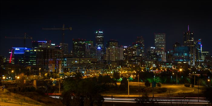 Denver Skyline at Night by Scott Smith Photos
