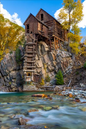 Crystal Mill, Colorado 09 - The Crystal Mill, or the Old Mill is an 1892 wooden powerhouse located on an outcrop above the Crystal River in Crystal, Colorado