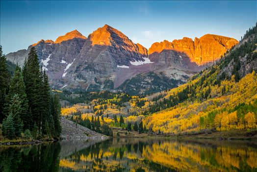 Maroon Bells Fall Sunrise by Scott Smith Photos