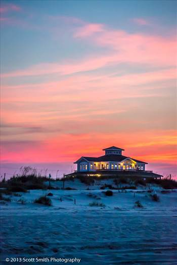 Beach House at Sunset by Scott Smith Photos