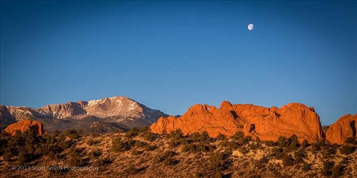 Sun Rising, Moon Setting by Scott Smith Photos