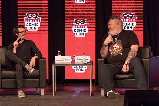 Game of Thrones'-  Bran and Hodor, Isaac Hempstead Wright and Kristian Nairn at Denver Comic Con 2018 by Scott Smith Photos