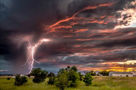 Colorado Sunset and Lightning by Scott Smith Photos