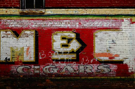 Old Signage in Alley by Scott Smith Photos