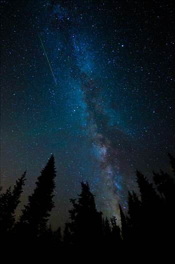 Milky Way and Meteorite from the Perseids by Scott Smith Photos