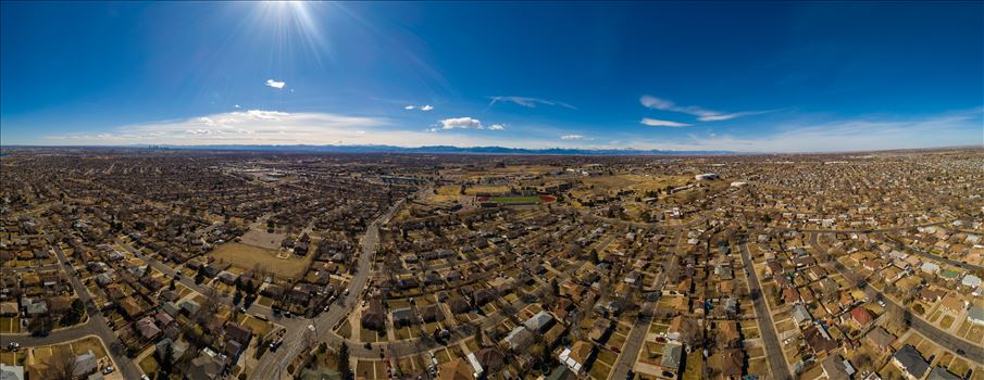 Panoramic aerial shot of Thornton, Colorado by Scott Smith Photos