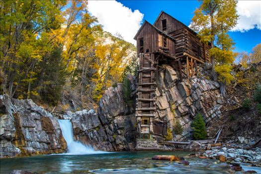 Crystal Mill, Colorado 07 - The Crystal Mill, or the Old Mill is an 1892 wooden powerhouse located on an outcrop above the Crystal River in Crystal, Colorado