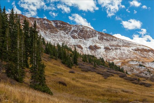 Snow at Mount Baldy Wilderness - Snow on the peaks at the Mount Baldy Wilderness area, near the summit. Taken from Schofield Pass in Crested Butte, Colorado.