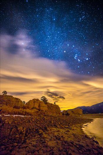Mary's Lake At Night 2 by Scott Smith Photos