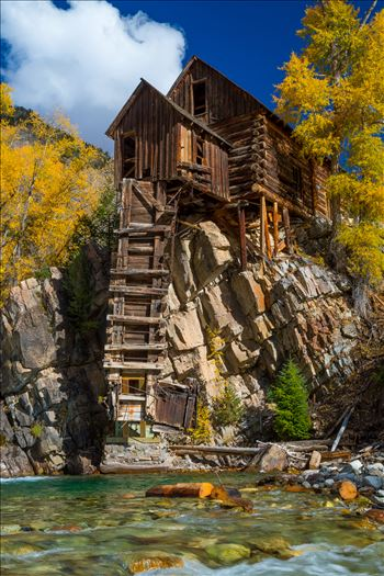 Crystal Mill, Colorado 06 - The Crystal Mill, or the Old Mill is an 1892 wooden powerhouse located on an outcrop above the Crystal River in Crystal, Colorado