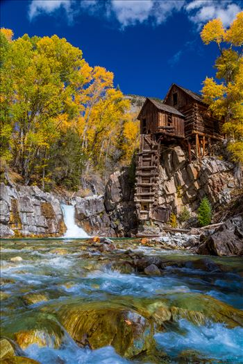 Crystal Mill, Colorado 04 - The Crystal Mill, or the Old Mill is an 1892 wooden powerhouse located on an outcrop above the Crystal River in Crystal, Colorado