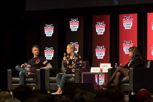 Guardians of the Galaxy's Sean Gunn and Pom Klementieff at Denver Comic Con 2018 by Scott Smith Photos