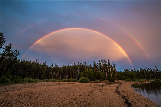 Double Rainbow at Turquoise Lake by Scott Smith Photos
