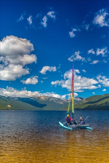Sailing at Turquoise Lake by Scott Smith Photos