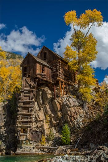 Crystal Mill, Colorado 01 - The Crystal Mill, or the Old Mill is an 1892 wooden powerhouse located on an outcrop above the Crystal River in Crystal, Colorado