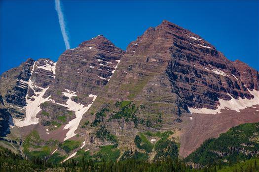Maroon and Pyramid Peaks Detail -