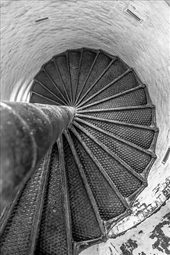 Old Cape Henry Lighthouse Steps by Scott Smith Photos