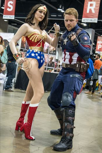 Wonder Woman and Captain America by Scott Smith Photos