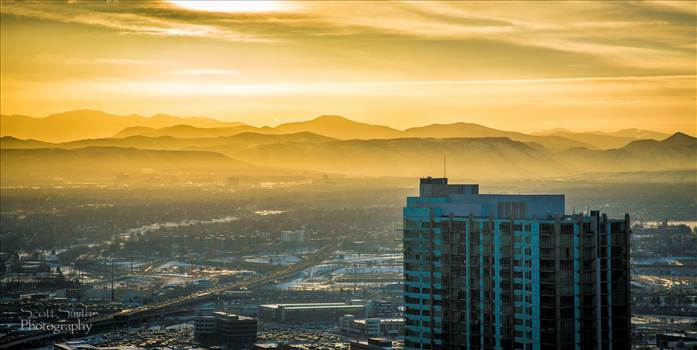 Sunset over Denver by Scott Smith Photos