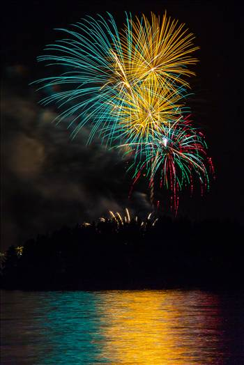 Dillon Reservoir Fireworks 2015 2 by Scott Smith Photos