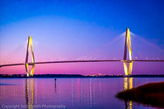 Arthur Ravenel Jr. Bridge At Sunset by Scott Smith Photos