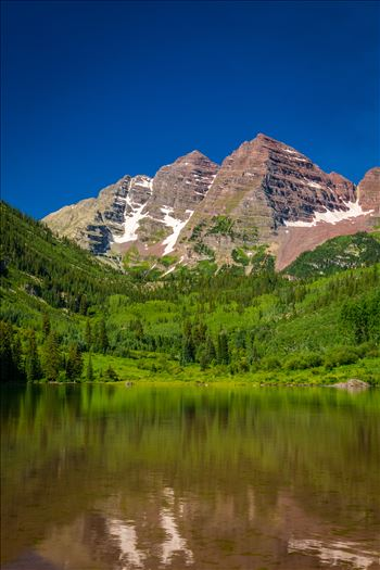 Maroon Bells in Summer No 07 by Scott Smith Photos